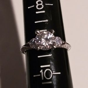 925 Sterling silver 2 piece white sapphire ring